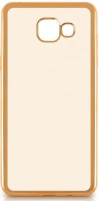 Чехол силиконовый DF sCase-24 с рамкой для Samsung Galaxy A7 2016 золотистый силиконовый чехол с рамкой для samsung galaxy a7 2016 df scase 24 rose gold