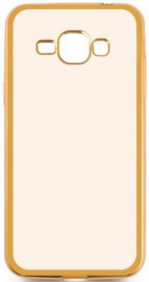 Чехол силиконовый DF sCase-27 с рамкой для Samsung Galaxy J1 2016 золотистый аксессуар чехол samsung galaxy j1 2016 df scase 27 rose gold