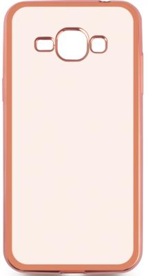 Чехол силиконовый DF sCase-27 с рамкой для Samsung Galaxy J1 2016 розовый аксессуар чехол samsung galaxy j1 2016 df scase 27 rose gold