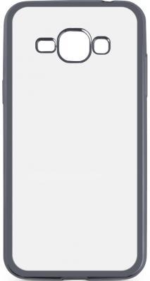 Чехол силиконовый DF sCase-27 с рамкой для Samsung Galaxy J1 2016 серый
