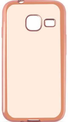 все цены на  Чехол силиконовый DF sCase-26 с рамкой для Samsung Galaxy J1 mini 2016 розовый  онлайн
