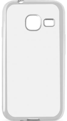 все цены на  Чехол силиконовый DF sCase-26 с рамкой для Samsung Galaxy J1 mini 2016 серебристый  онлайн