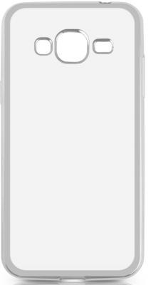 Чехол силиконовый DF sCase-28 с рамкой для Samsung Galaxy J3 2016 серебристый аксессуар чехол накладка samsung galaxy j3 2016 df scase 10