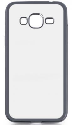 Чехол силиконовый DF sCase-28 с рамкой для Samsung Galaxy J3 2016 серый счастливые картины мягкий тонкий тпу резиновый силиконовый гель дело чехол для samsung galaxy j3 2017 j327