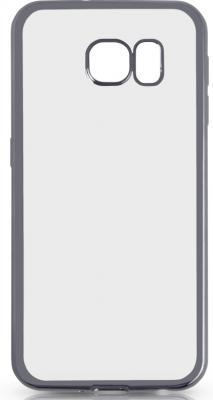 все цены на Чехол силиконовый DF sCase-31 с рамкой для Samsung Galaxy S6 серый онлайн