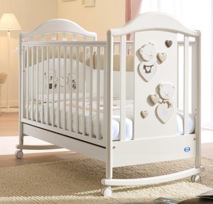 Кроватка-качалка Pali Celine Baby (белый/песочный)