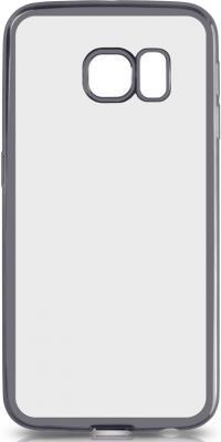 все цены на Чехол силиконовый DF sCase-19 с рамкой для Samsung Galaxy S6 Edge серый онлайн