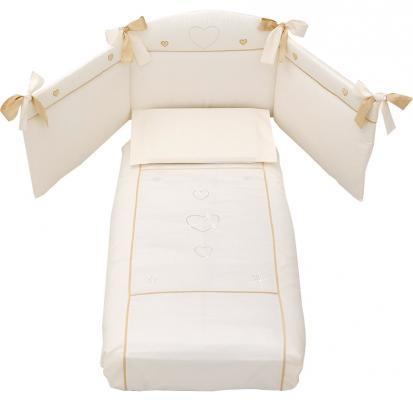 Сменное постельное белье Erbesi Cuori (слоновая кость)