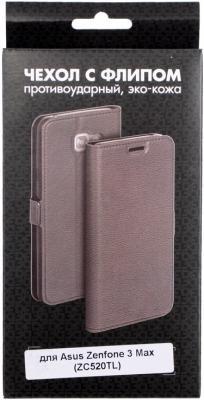 Чехол DF aFlip-05 для Asus Zenfone 3 Max ZC520TL чехол soft touch для asus zenfone 3 ze552kl df aslim 17