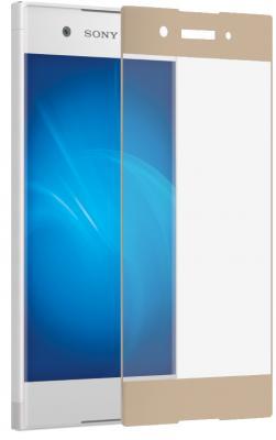 Защитное стекло DF xColor-06 для Sony Xperia XA1 с рамкой золотистый аксессуар защитное стекло sony xperia xa1 luxcase 0 33mm 82170