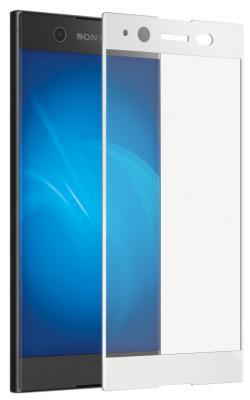 Защитное стекло DF xColor-07 для Sony Xperia XA1 Ultra с рамкой белый аксессуар защитное стекло sony xperia xa1 luxcase 0 33mm 82170