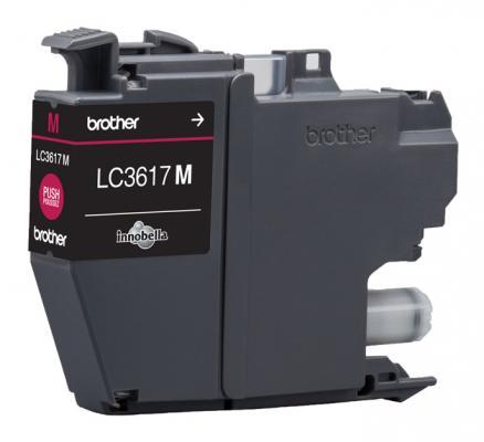Картридж Brother LC3617M для Brother MFC-J3530DW/J3930DW пурпурный 550стр картридж для струйных аппаратов brother lc3617y желтый для mfc j3530dw j3930dw 550стр lc3617y