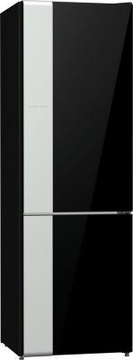 Холодильник Gorenje NRK612ORAB черный серебристый