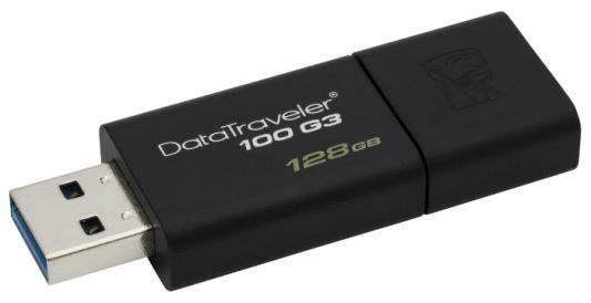 Флешка USB 128Gb Kingston DataTraveler 100 G3 DT100G3/128GB черный от 123.ru