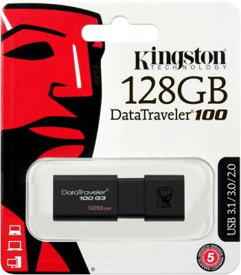 Фото - Флешка USB 128Gb Kingston DataTraveler 100 G3 DT100G3/128GB черный usb флешка kingston dt100g3 64gb dt100g3 64gb