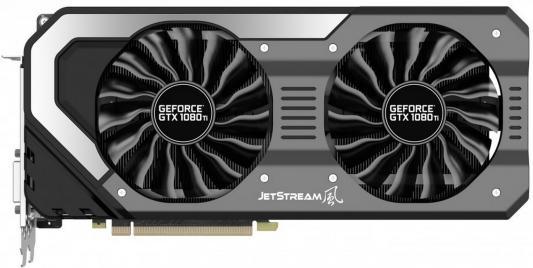 Видеокарта 11264Mb Palit GeForce GTX1080 Ti Super Jetstream 11G PCI-E 352bit GDDR5X DVI HDMI DP HDCP NEB108TS15LC-1020J Retail видеокарта 6144mb palit geforce gtx1060 pci e 192bit gddr5 dvi hdmi dp hdcp ne51060015j9 1061d oem