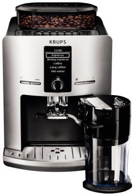лучшая цена Кофемашина Krups EA829E10 серебристо-черный