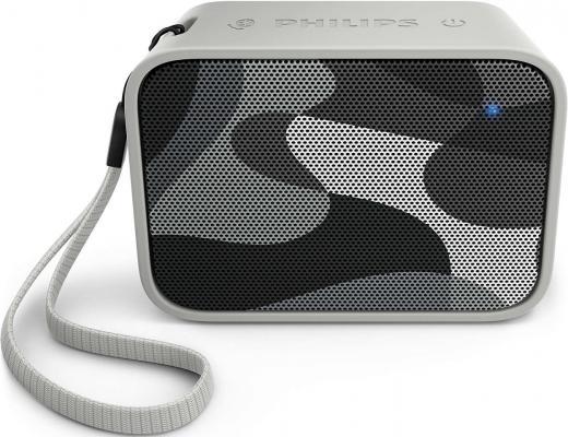 Портативная акустикаPhilips BT110C/00 серый philips bt 110 c 00 pixelpop