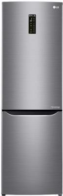 Холодильник LG GA-B429SMQZ серебристый серый черный холодильник lg ga b429smqz