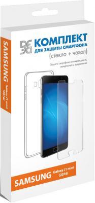Защитное стекло + чехол DF sKit-02 для Samsung Galaxy J1 mini 2016 чехол samsung siliconecover для galaxy s9 g960 ef pg960tbegru black