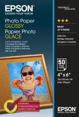 Фотобумага Epson 10x15см 200г/м2 глянцевая 50л C13S042547 фотобумага epson c13s041893