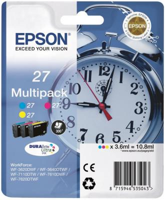 Картридж Epson C13T27124022 для Epson WF7110/7610 цветной procolor continuous ink supply system ciss europe area 27 t2701 for epson wf 7110 wf7110 wf 7110 7110dtw wf 7110dtw wf7110dtw