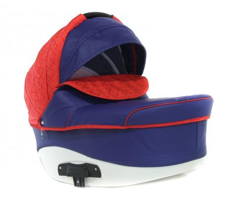 Коляска 2-в-1 Lepre Formula (шасси white/цвет 14/красный-синий) коляска rudis solo 2 в 1 графит красный принт gl000401681 492579