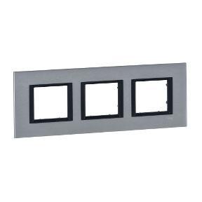 Рамка 3 пост серебристый алюминий Schneider Electric MGU68.006.7A1