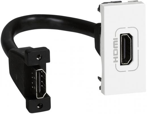 Розетка Legrand Mosaic HDMI белый 78778 цена