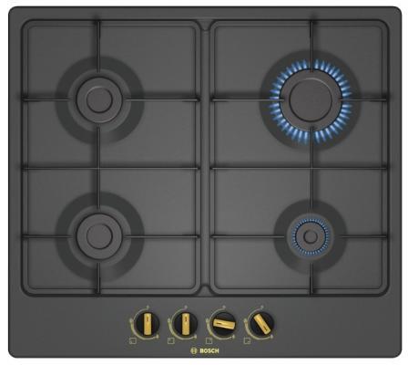 Варочная панель газовая Bosch PGP6B3B60 черный цена и фото