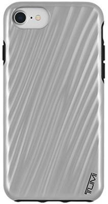 цена Чехол Tumi 19 Degree Case для iPhone 7. Материал пластик. Цвет серый. Дизайн Metallic Gunmetal. онлайн в 2017 году