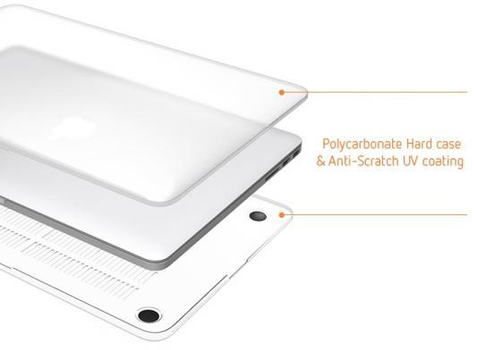 "Чехол-накладка для ноутбука MacBook Pro 13"" LAB.C Ultra Slim Fit поликарбонат прозрачный"