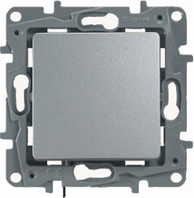 Переключатель одноклавишный Legrand Etika 10AX 250В алюминий 672405