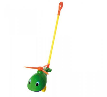 Каталка на палочке Совтехстром Вертолёт пластик от 1 года зеленый  У499 каталка на шнурке brio вертолёт дерево от 1 года зеленый