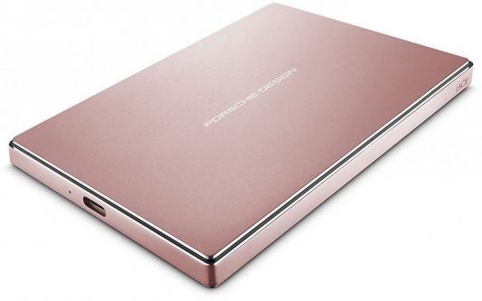 "Внешний жесткий диск 2.5"" USB3.1 2Tb Lacie Porsche Design Mobile Drive STFD2000406 розовое золото"