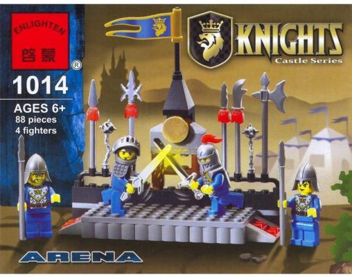 Конструктор BRICK Турнир рыцарей 88 элементов 1014 конструктор brick вертолет 275 элементов 818