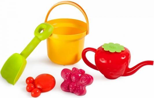 Купить Песочный набор Росигрушка Клубничка Ведро 1 л 4128, Ведерки, лопатки и формочки для детей