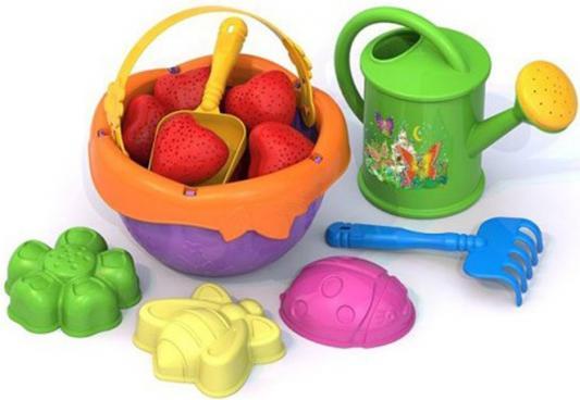 Купить Песочный набор Нордпласт Садовник 14 предметов 443 в ассортименте, Ведерки, лопатки и формочки для детей