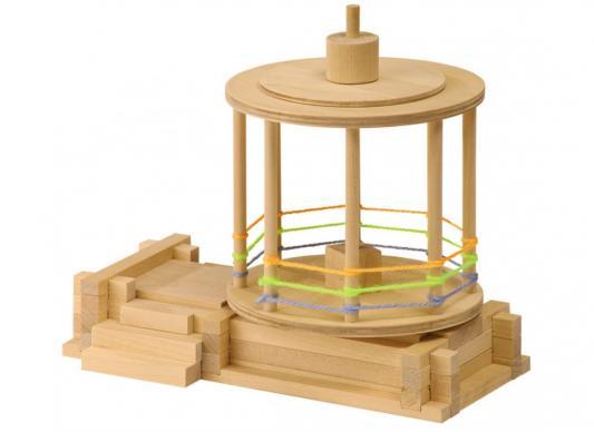 Деревянный конструктор Пелси Лесная карусель 63 элемента К616 пелси пелси деревянный конструктор избушка теремок с куклой и росписью 94 детали