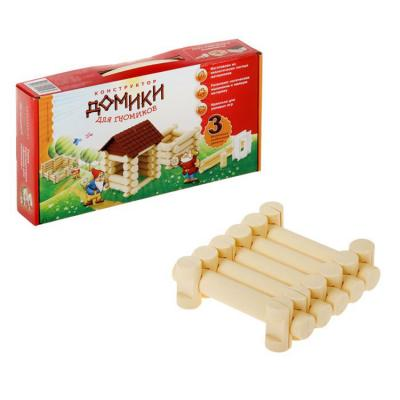 Купить Деревянный конструктор Эра Домики для Гномиков, 3 комбинации домиков 11 элементов, Деревянные конструкторы