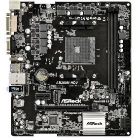 Мат. плата для ПК ASRock AB350M-HDV Socket AM4 AMD B350 2xDDR4 2xPCI-E 16x 1xPCI-E 1x 4xSATAIII mATX Retail