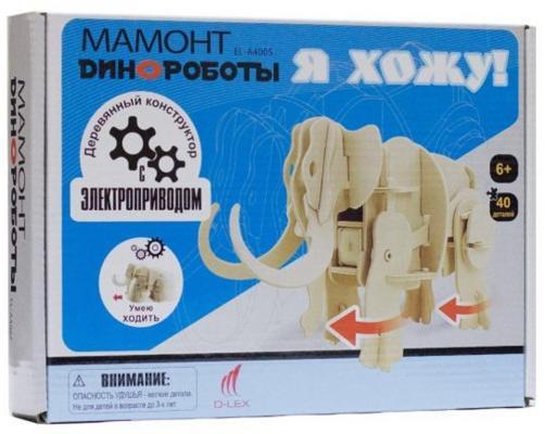 """Деревянный конструктор D-Lex """",Динороботы"""", - Мамонт 40 элементов умеет ходить EL-A400S"""