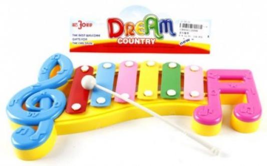 Ксилофон Shantou Gepai Веселые нотки, 6 тонов, пакет 20099