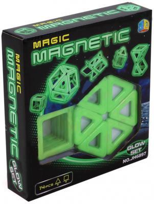 """Конструктор 3D Shantou Gepai """"Magnetic"""" 14 элементов JH6897"""