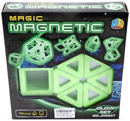 """Конструктор 3D Shantou Gepai """"Magnetic"""" 14 элементов  JH6897 от 123.ru"""