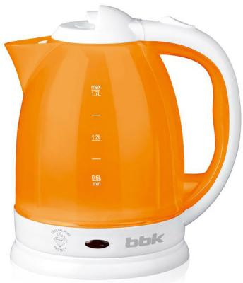 Чайник BBK EK1755P 1500 Вт белый оранжевый 1.7 л пластик