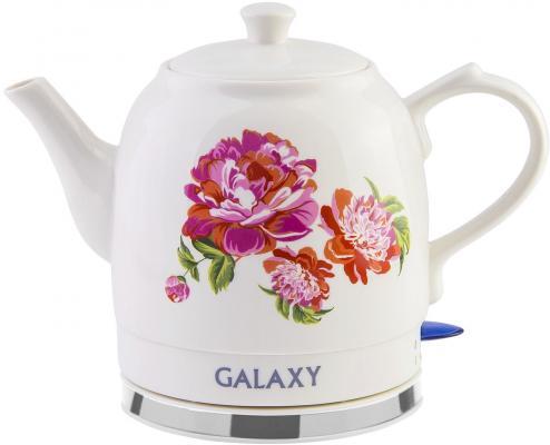 Чайник GALAXY GL0503 1400 Вт белый 1.4 л керамика чайник galaxy gl0504 1400 вт белый 1 2 л керамика