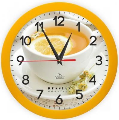 Часы настенные Вега П1-2/7-259 Лимонный чай рисунок brabantia чехол для гладильной доски с войлоком 124х45 см 264825 brabantia