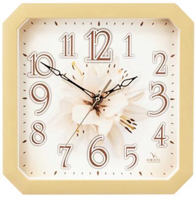 Часы Вега П4-14/7-87 Лилия бежевый часы вега п4 14 7 86 новогодние подарки разноцветный