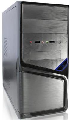 Корпус microATX Super Power Winard 5819 Без БП чёрный серебристый